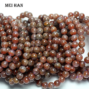 Image 1 - Wholesale ( 1 bracelet) Natural  8 8.8 mm genuine rare Auralite 23 quartz smooth round bracelet beads for jewelry making
