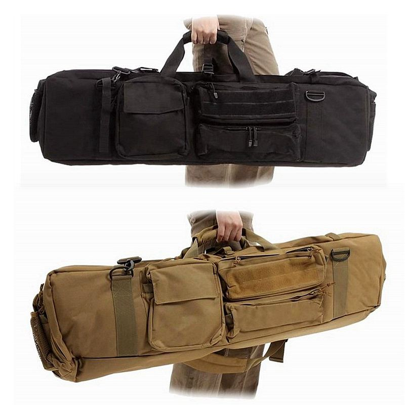 Nylon Tactical Rifle Gun Bag Gun Carry Case About 100cm With Shoulder Strap Outdoor Hunting Bag Protection Case Square Backpack