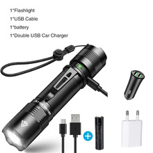 Rechargeable LED Flashlight 1000 Lumens Ultra Bright Torch 5 Lighting Modes Camping Light Waterproof Bicycle Light