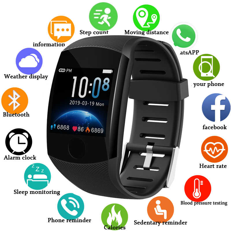 Luik 2020 Nieuwe Slimme Horloge Mannen Vrouwen Bloeddruk Hartslagmeter Tracker Sport Horloge Smartwatch Reloj Inteligente Relogio