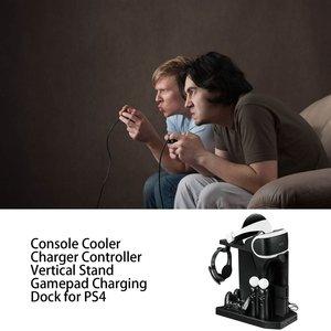 Вертикальный контроллер зарядного устройства, подставка для геймпада, зарядная док-станция, кулер для PS Move для PS4 Slim для PS4 Pro для PSVR/PSVR2