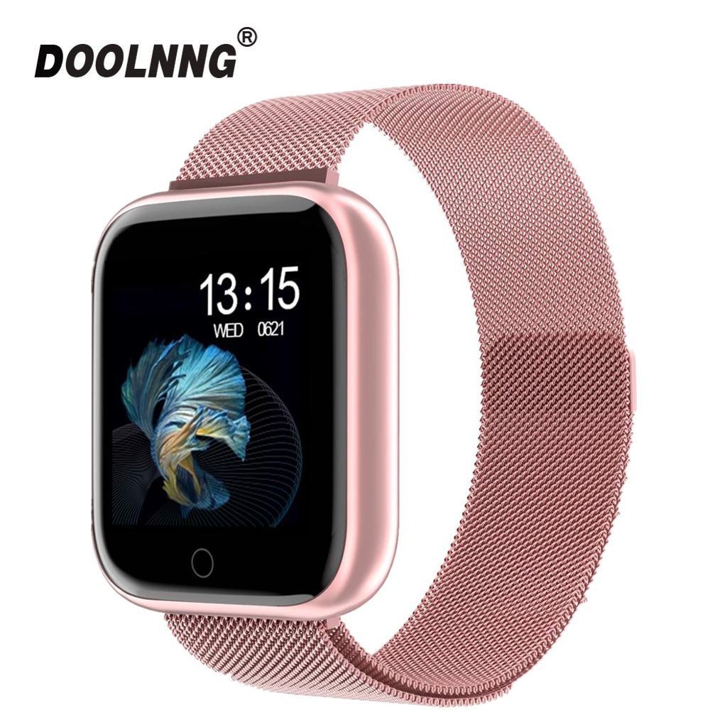 2020 New Women Waterproof Smart Watch T80 Bluetooth Smartwatch For Apple IPhone Xiaomi Heart Rate Monitor Fitness Tracker