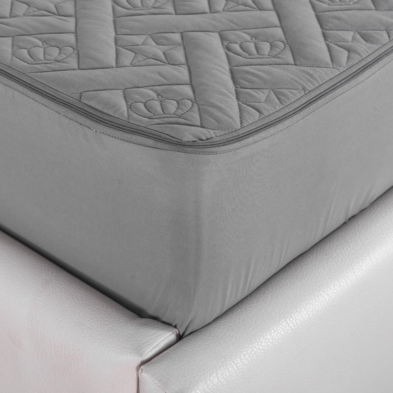 Bedding Thicken Six-Sided Quilted Mattress Cover King Queen Bed Fitted Sheet Polyester Removable Air-Permeable Bedspread