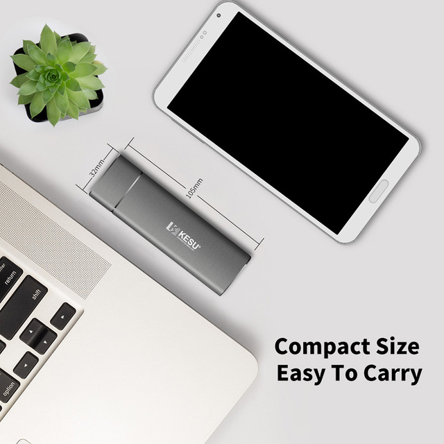 KESU SSD 256GB 512GB 1T Portable Solid State Drive USB 3.1 Gen 2 540M/s External Storage Compatible for Mac Latop/Desktop/Tablet 5