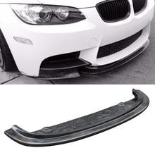 CRT стиль передний бампер спойлер углеродного волокна сплиттер для BMW E90 E92 E93 M3 OLOTDI стайлинга автомобилей