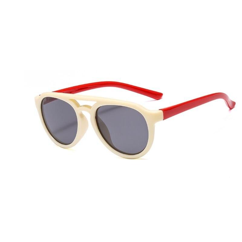 Детские солнечные очки мальчикам и девочкам, силиконовые очки солнечные очки тёмные очки для От 4 до 12 лет Детская R9CF - Цвет линз: 7