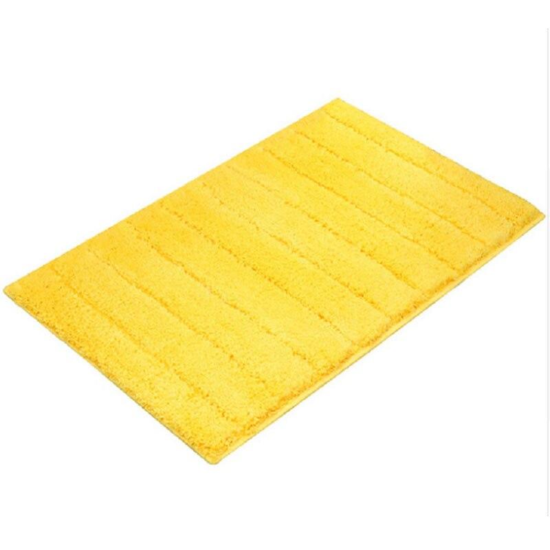 Rug Absorbent Non-Slip Rug European T-Strip Bathroom Mat Carpet Home Door 45 X 65cm Yellow