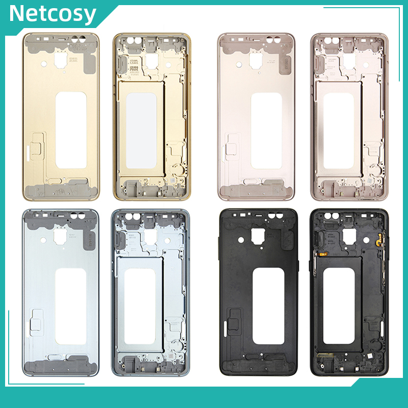 For Samsung A530 Middle Frame Plate Bezel Housing Cover Replacement For Samsung Galaxy A8 2018 A530 A530F A530DS A530N SM-A530