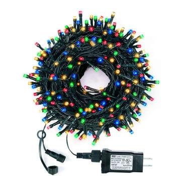 Thrisdar bożonarodzeniowa girlanda żarówkowa End-to-wtyk końcowy 8 trybów zewnętrzna światełka girlanda do ogrodu wesele świąteczne imprezy wystrój tanie i dobre opinie CN (pochodzenie) 1 Year CHRISTMAS Z tworzywa sztucznego LED Bulbs Brak 220 v Klin 1000cm 6-10m WHITE MULTI ciepły biały