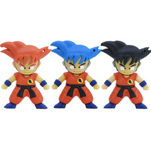 Son Goku Pena Drive Kartun Anime Dragon Ball USB Flash Drive 4GB 8 Gb 16GB 32GB 64GB Kakarotto Memory Stick Saiyan Flashdisk(China)