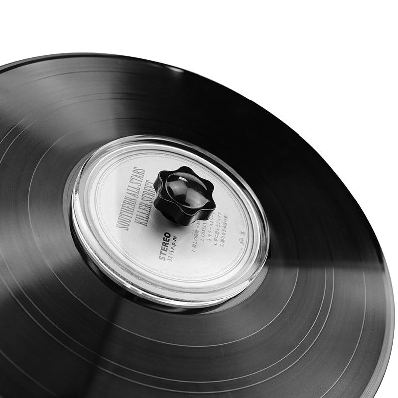 LP очиститель виниловых пластин зажим для записи этикеток протектор Водонепроницаемый акриловый инструмент для очистки с чистящей тканью