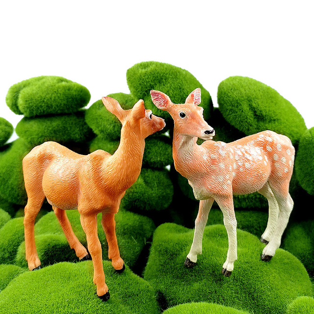New Sika Deer Reindeer Elk figurine Simulation Animal model Diy home decor miniature fairy garden decoration accessories modern 3