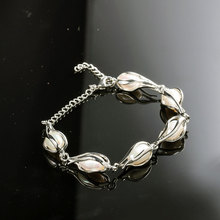 Natural Freshwater Pearls Rice-Shaped Pearl Bangles Bracelets Charms Temperament For Women Gift Jewelry Accessories length 18cm 2020 natural freshwater pearls rice shaped pearl agates beads bracelets jewelry accessories party for women gift length 19cm