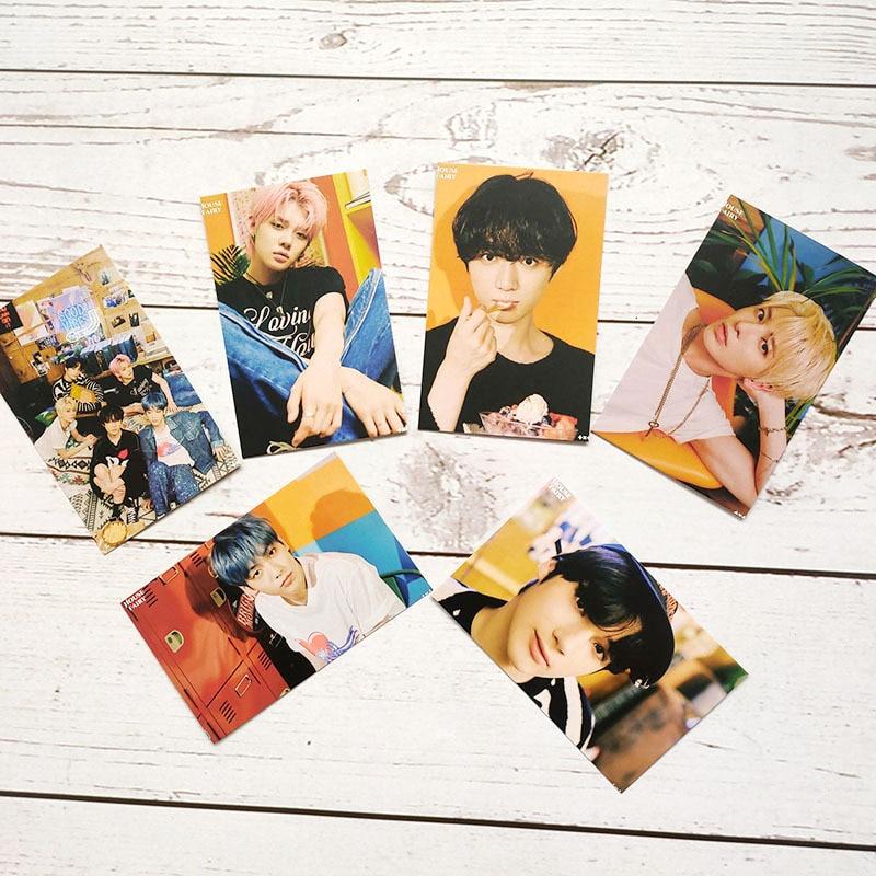 6 шт./компл. поп TXT Фотокарта 2021 SEASON'S приветствия фото открытки в альбом высокого качества HD фото K-pop TXT Почтовые открытки новые поступления