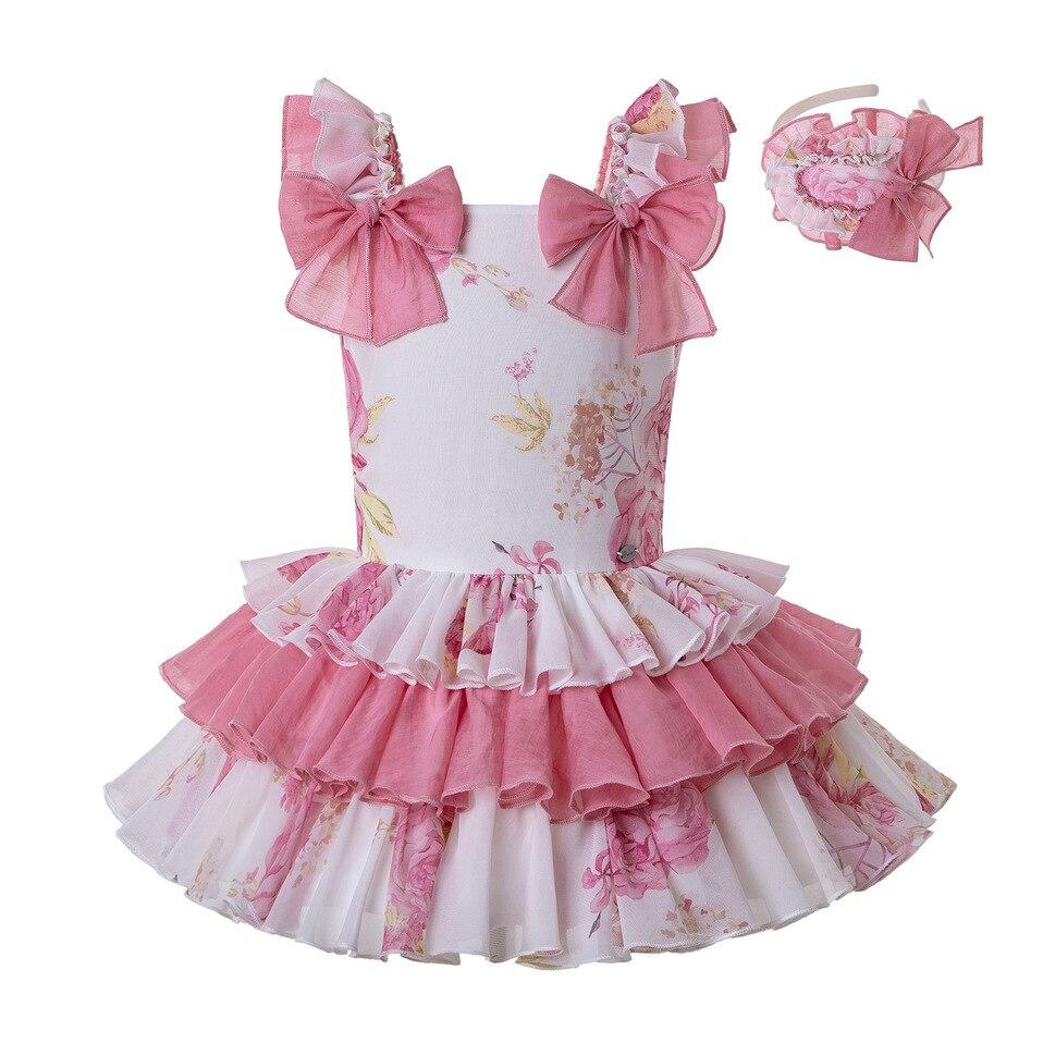 Handmade extra frilly pink polka dot baby//girls socks