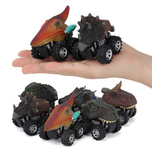 6 pcs/ set Animal Children Gift Toy Dinosaur Model Mini Toy Car Pull Back Cars Toy Truck Hobby Funny KID Gift toys for children kids collectible cute animal model dinosaur panda vehicle mini elephant bear toy truck tiger pull back car boy toys for children