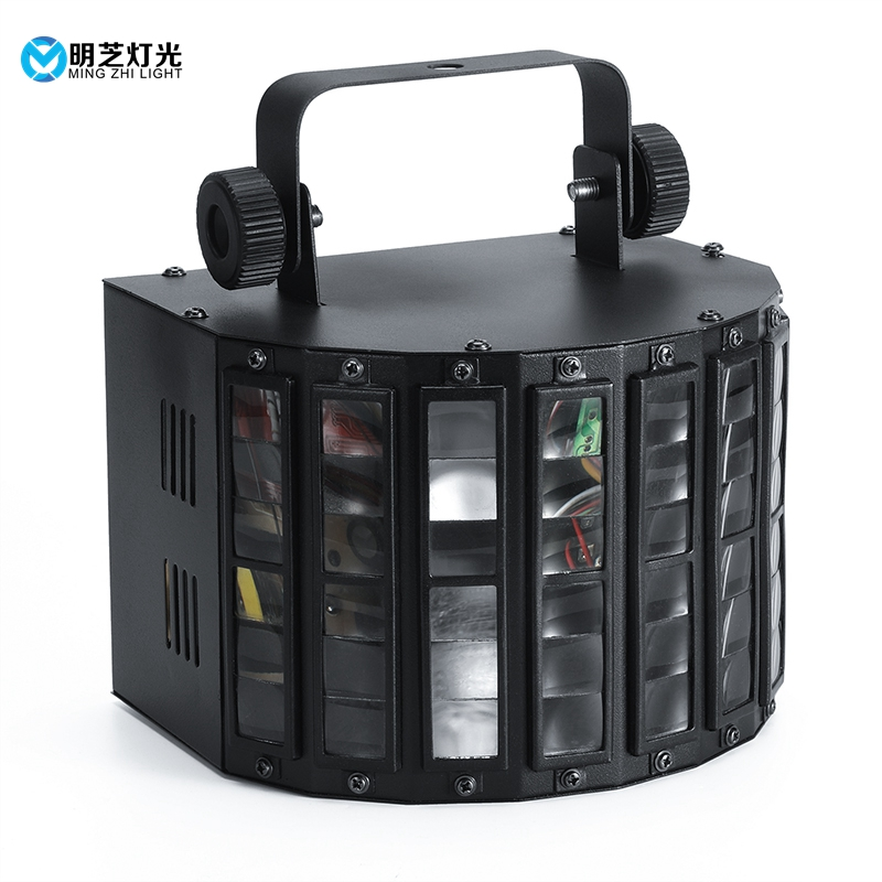 30W Mini Derby Club Party LED Laser Flash Disco Double Butterfly Light DMX512 Stage Lamp DJ Equipments KTV Disco Lights
