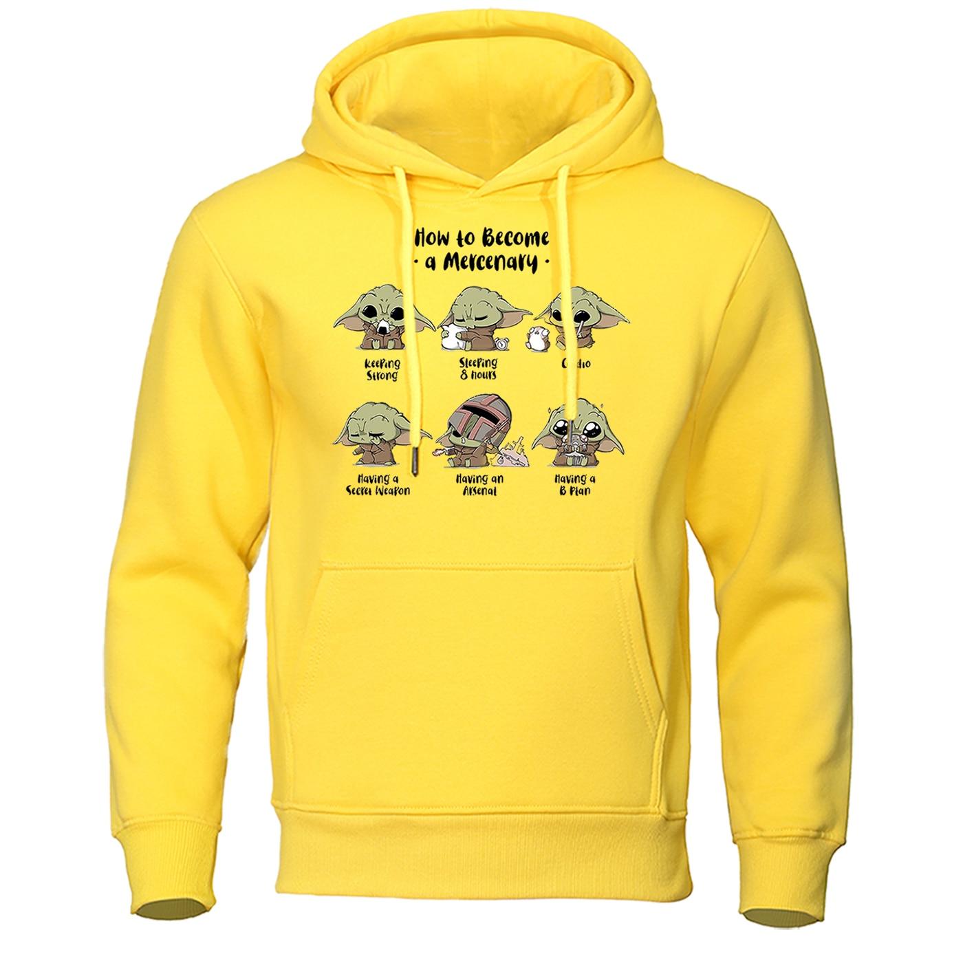 2020 Spring Pullover The Mandalorian New Movie Hoodies Men Baby Yoda Hoodie Mens Star Wars Sweatshirt Cartoon Hip Hop Streetwear