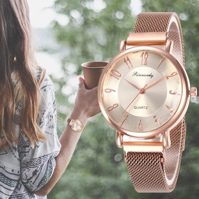 WJ-8569 minimalista para mujer reloj de pulsera de cuarzo con números relojes de pulsera de acero inoxidable Simple reloj de vestir para mujer reloj Relojes de Acero para hombre, reloj de cuarzo de lujo para hombre, reloj de pulsera de 50m para hombre, para deportes acuáticos, 2017, reloj masculino