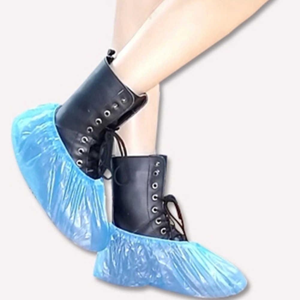 Cubiertas botas a prueba de agua médicas fundas de zapatos desechables de plástico casas sobre zapatos antideslizantes botas días de lluvia bolsa de zapatos útil