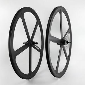 700C велосипедные колеса с фиксированной передачей, из магниевого сплава, дорожные велосипедные колеса с 5 спицами