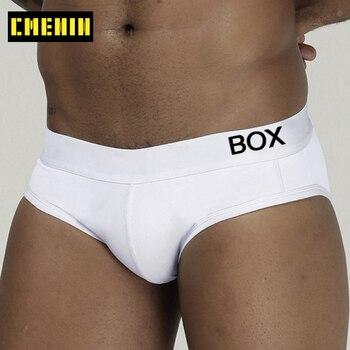 Calzoncillos cortos de algodón para hombre, ropa interior cómoda, lencería lisa, Sexy, Gay