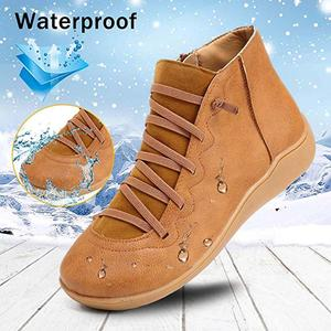 Image 4 - Women Ankle Shoes PU Leather Femme Shoes Cross Strap Lace up Girls Boots Spring Autumn Ladies Boots WJ003
