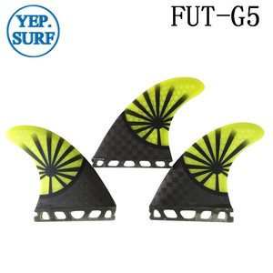 Image 3 - Future G5 Fin yellow Honeycomb Surfboard Fins Future Fibreglass Fins Surf Quilhas Paddle Board