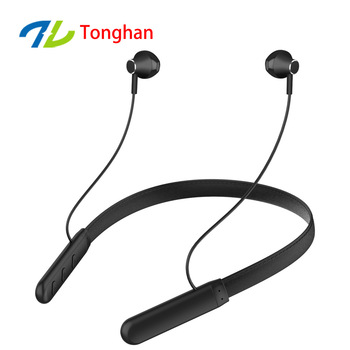wireless Bluetooth headset neck hanging stereo metal magnetic suction Bluetooth headset gift
