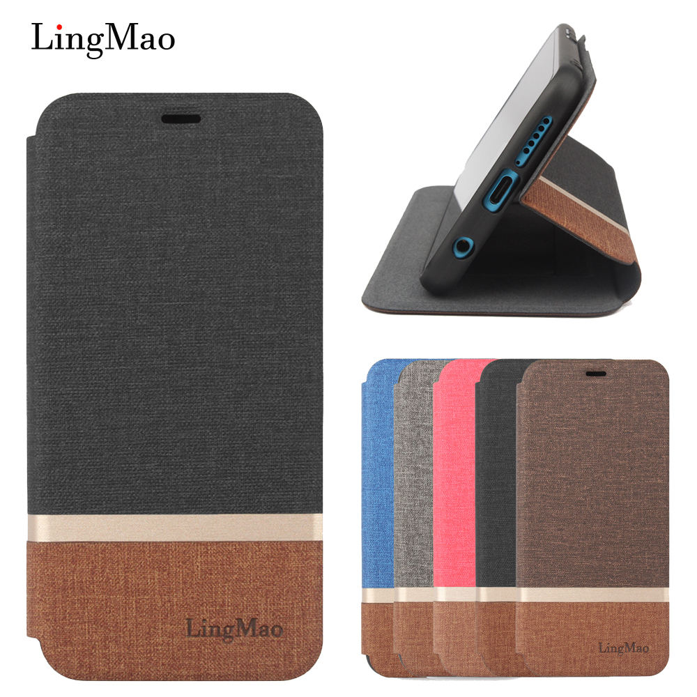 Lingmao for Huaway Honor V10 Phone Bag Case Honor V10 PU Leather + TPU Cover Case Huawei Honor V10 Coque Full Protective Cover image