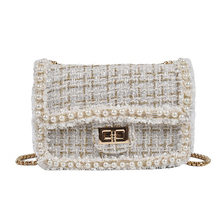 Brand Crossbody Bags For Women Luxury Pearls Border Handbag Designer T