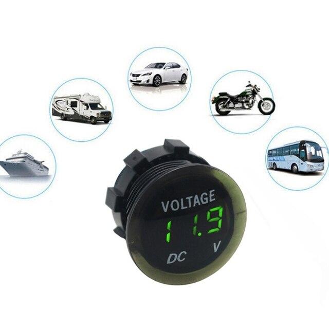 Testeur universel de voltmètre de Volt daffichage numérique de panneau de LED de mètre de tension de voiture pour des accessoires automatiques de camion de moto 12V-24V