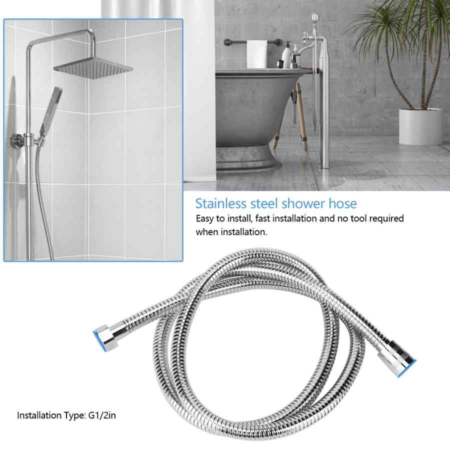 Shower Hose G1/2in Home Bathroom Stainless Steel Double Buckle Electroplating Flexible Bathing Shower Hose yoni Steam Seats