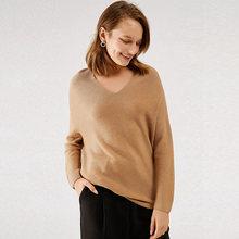 100% шерсть бесшовный вязаный свитер 4 цвета свободный женский