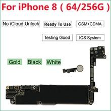 64GB/256GB cho iPhone 8 Bo Mạch Chủ Có Cảm Ứng ID Nút Home, năm 100% ban đầu Mở Khóa iCloud Đen Vàng Trắng Logic Bo Mạch Chủ