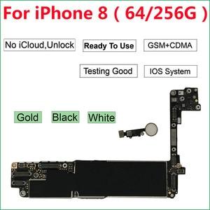 Image 1 - 64GB/256GBสำหรับiPhone 8 เมนบอร์ดปุ่มHome ID,100% ปลดล็อกiCloudสีดำทองสีขาวMother BOARD