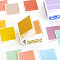 Warm 300 pcs/lot Kawaii Cute Color Card Loose Leaf Memo Pads Sticky Notes Minimalist Write Down Points Artsy Style Notepads Note