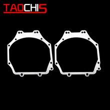 TAOCHIS araba styling çerçeve adaptörü modülü DIY braketi tutucu Subaru Outback için Hella 3 5 projektör lens güçlendirme çerçeve