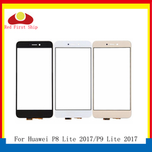 10Pcs/lot Touch Screen For Huawei P8 Lite 2017 Panel Sensor Digitizer Front Glass Outer P9 Touchscreen NO LCD