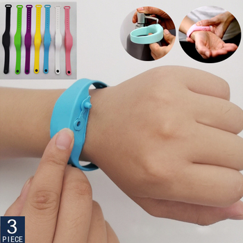 3 Pcs Hot Sale Gel Disinfectant Sterilizing Silicone Wristband Hand Dispenser 2020 New Style
