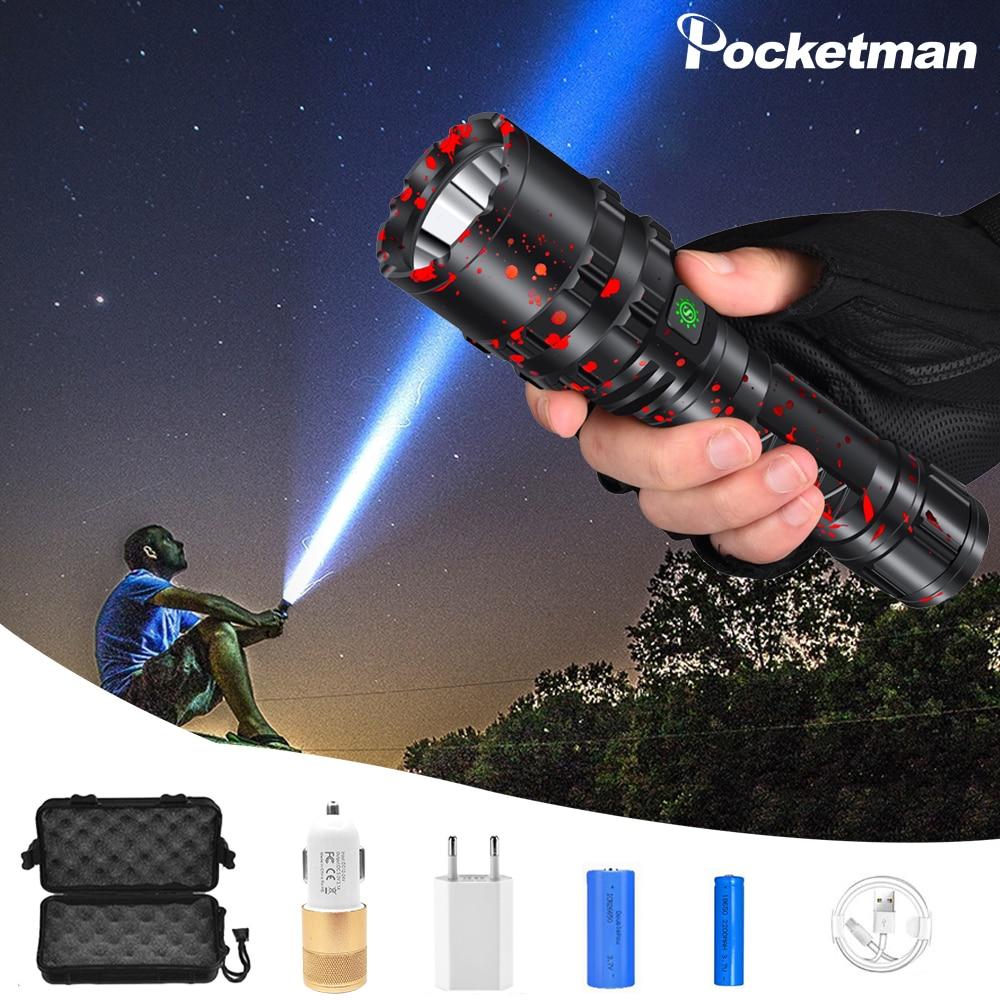 80000LM Long-range XHP50.2 LED Flashlight Flash Light L2 Waterproof Torch LED Light Powerful Lanterna Use 18650 26650 Battery