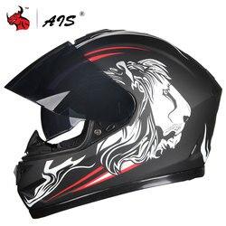 JIEKAI kask motocyklowy pełna twarz Casco Moto podwójny wizjer wyścigi kask motocrossowy motocykl Capacete Moto kaski # w Kaski od Samochody i motocykle na