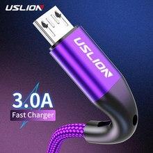 Uslion 3m 3a micro cabo usb para xiaomi redmi htc usb carga rápida cabo de fio de carregamento do telefone para samsung android telefone carregador