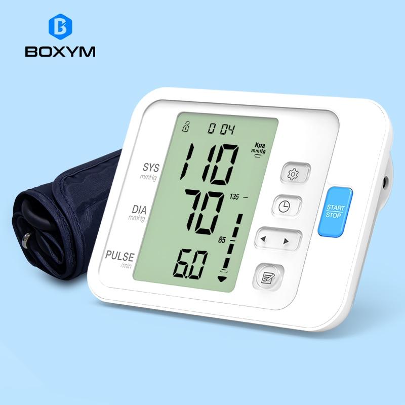 BOXYM Automatic Digital Arm Blood Pressure Monitor Sphygmomanometer LCD Upper BPM Cufffor Tonometer Pulsometer Health Care