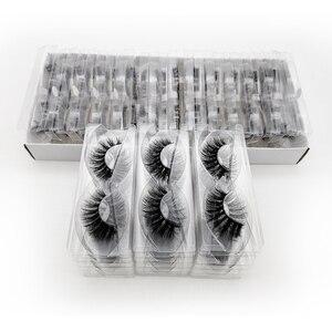 Image 4 - SHIDISHANGPIN 20/40/50/100 Pairs DIY logo kirpik kutu ambalaj dramatik sahte kirpik Faux vizon kirpiklere kabarık MakeupLashes