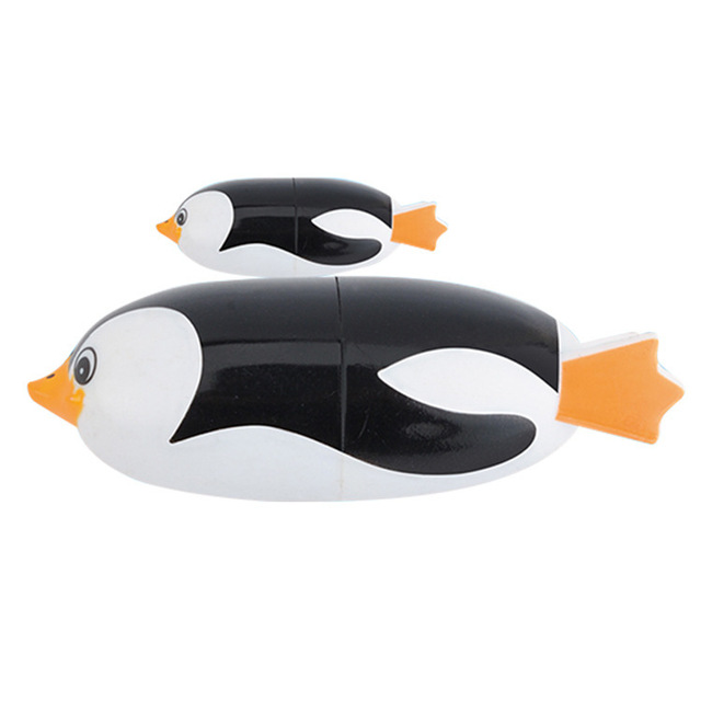 2Pcs Penguins Electric Bath Toy Animal Underwater Diving Swiming Toy Educational Battery Electric Penguin Bath Toy For Baby