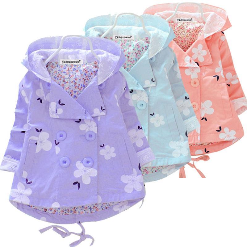 2019 nova primavera e outono moda meninas casual com capuz blusao criancas outerwear casaco criancas jaqueta
