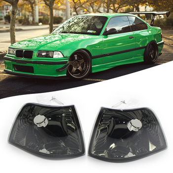 Smoke Lens Front Parking Light Turn Signal Indicator No Bulb Easily Installation Personal Car Elements for BMW E36 318i M3 image