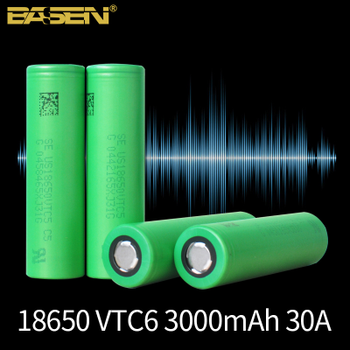 VTC6 18650 battery 3.7V 3000mAh rechargeable Li-ion Battery 30A Discharge High power battery tools flashlight  Lithium battery jouym icr18650 30q 18650 3000mah rechargeable battery 30a large current 18650 high current power discharge welding nickel sheets