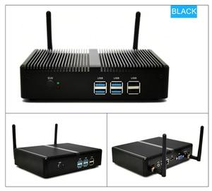 Image 3 - Cheap Fanless Mini PC Intel i5 7200U i3 7167U Windows 10 Barebone System PC Unit Desktop Computer Linux HTPC VGA HDMI WiFi 6*USB